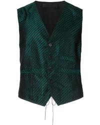 Woven geometric waistcoat medium 3762260
