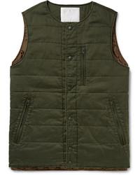 Herringbone woven padded cotton gilet medium 389958