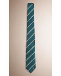 Dark Green Horizontal Striped Tie
