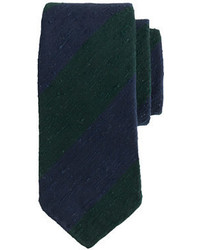 Drakes Drakes Regital Striped Tie In Blue And Green