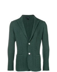 Dark Green Knit Blazer
