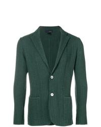 Lardini Patterned Knit Blazer