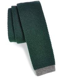 Dark Green Knit Tie