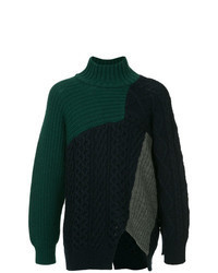 Dark Green Knit Turtleneck