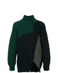 Kolor Patchwork High Neck Sweater