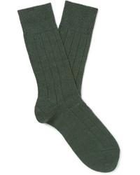Lhasa Ribbed Knit Socks
