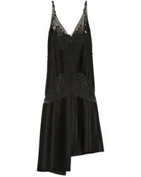 Stella McCartney Lace And Pleated Satin Dress