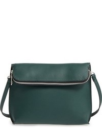 Dark Green Leather Crossbody Bag