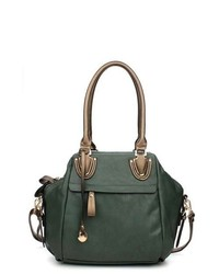 Dark Green Leather Handbag