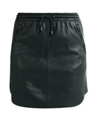 Ibana Mesa Leather Skirt Forest