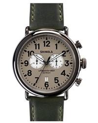 Dark Green Leather Watch