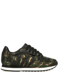 Dark Green Low Top Sneakers