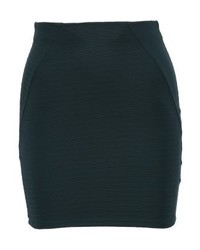 Even&Odd Mini Skirt Dark Green