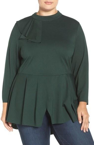 526155d3b30d8b Melissa McCarthy Plus Size Seven7 Flounce Peplum Top, £84 ...