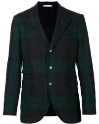 Dark Green Plaid Blazer