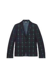 Gucci Check Bees Fabric Jacket