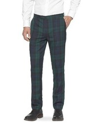 Dark Green Plaid Dress Pants