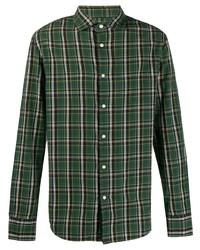 Deperlu Check Print Long Sleeve Shirt