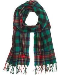 Begg cotm lambswool plaid scarf medium 129265