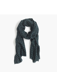 J.Crew Lightweight Wool Silk Dotted Scarf