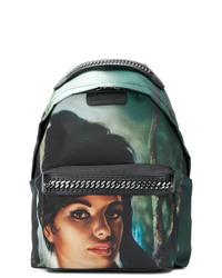 Dark Green Print Backpack