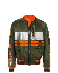 Dolce & Gabbana Block Striped Bomber Jacket