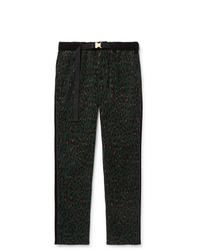 Sacai Leopard Print Cotton Corduroy Trousers