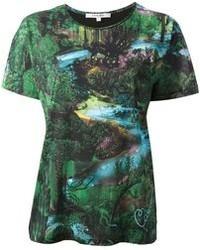 Carven Botanical Print T Shirt