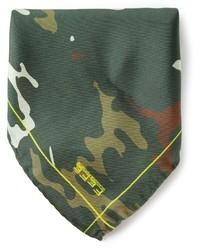 fe-fe Fef Camouflage Print Pocket Square Handkerchief