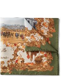 Rubinacci Real Sito Di Capodimonte Printed Silk Twill Pocket Square