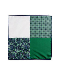 J.Z. Richards Silk Pocket Square Green One Size
