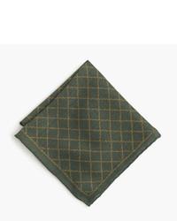 J.Crew English Wool Silk Pocket Square In Vine Print