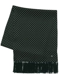 Saint Laurent Polka Dot Printed Silk Satin Scarf