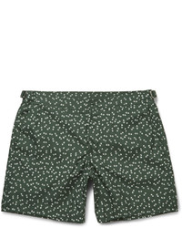 Dolce & Gabbana Slim Fit Mid Length Printed Swim Shorts