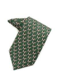 Rivetz of Boston Silk Cow Print Tie In Green