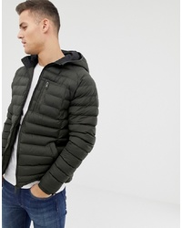 Threadbare Lightweight Puffer Jacket With Hood