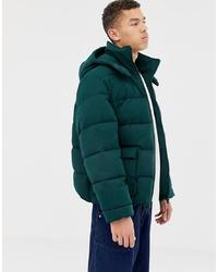 ASOS WHITE Oversized Puffer Jacket With Hood