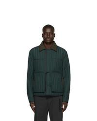 Dark Green Quilted Barn Jacket