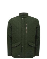 Dark Green Quilted Field Jacket