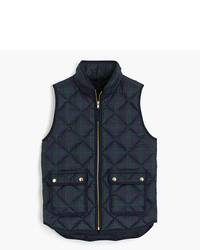 J.Crew Black Watch Excursion Quilted Vest