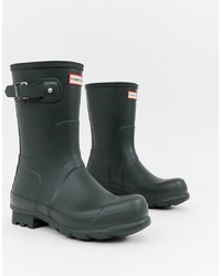Hunter Original Short Wellies In Green