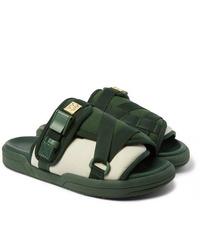 VISVIM Christo Colour Block Canvas And Rubber Sandals