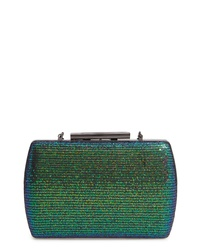 Dark Green Sequin Clutch