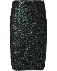 Aliceolivia sequin embellished pencil skirt medium 121634