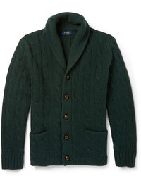Polo Ralph Lauren Cable Knit Wool Shawl Collar Cardigan
