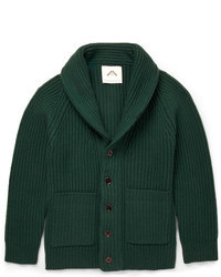 Ovadia Sons Ribbed Knit Wool Cardigan