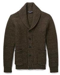 Virgin wool shawl collar cardigan medium 105636