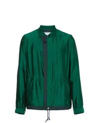 Sacai Green Silk Grid Jacket