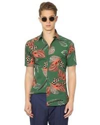 Dark Green Short Sleeve Shirt