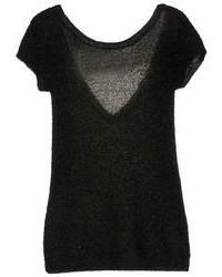 Dark Green Short Sleeve Sweater